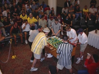 Pictured is the finals of the super doubles competition presented by NATSA in Austin, Texas during 2001.