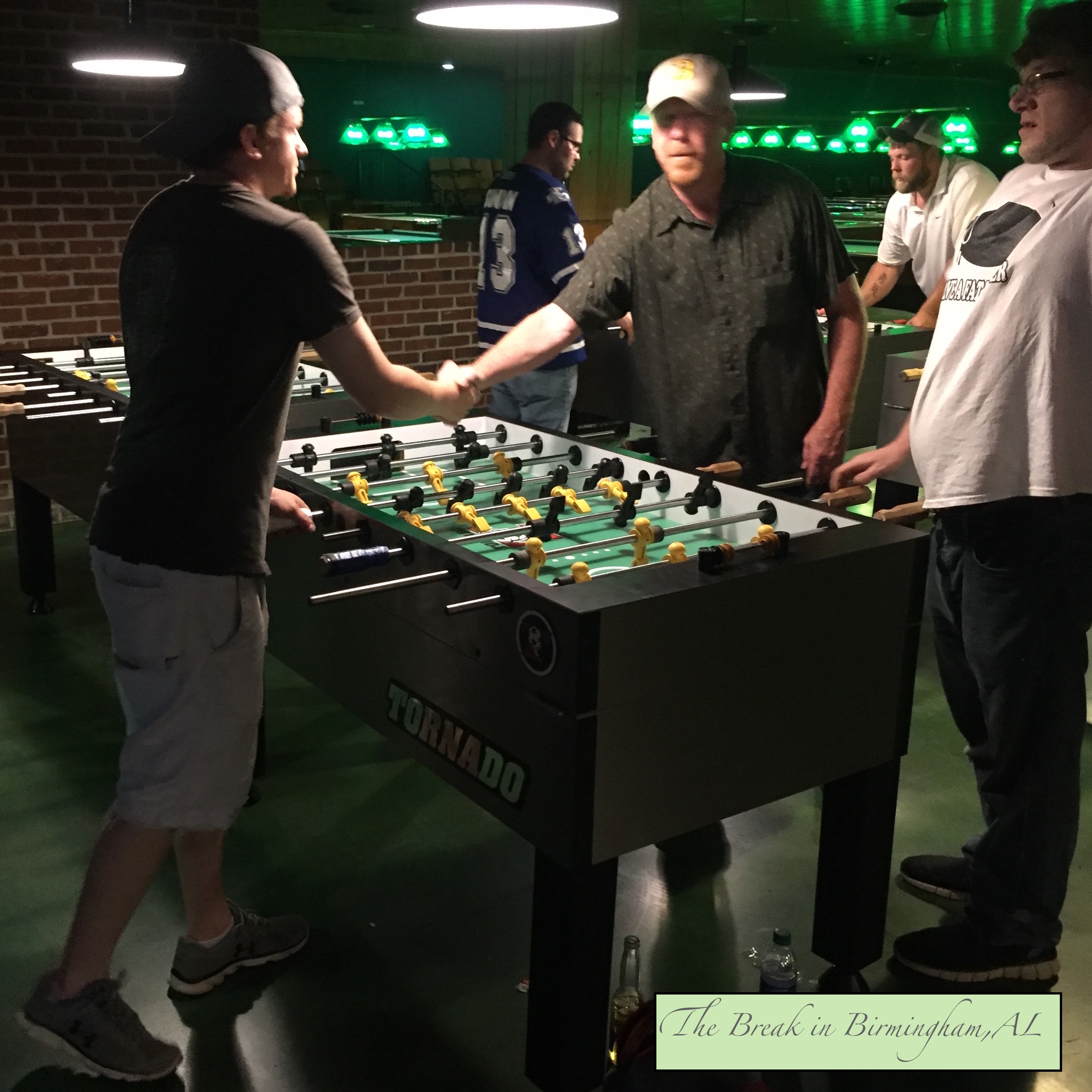 Foosball players competing at The Break in Birmingham 2018.