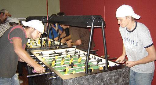 Local Cullman foosball players Josh Parker & Stephen Darby.