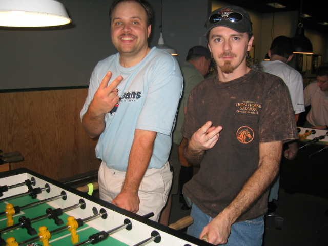 The 2003 & 2004 Tennessee State Champs of Semi Pro Doubles, Marty Fagan(left) & Jesse Maynard.