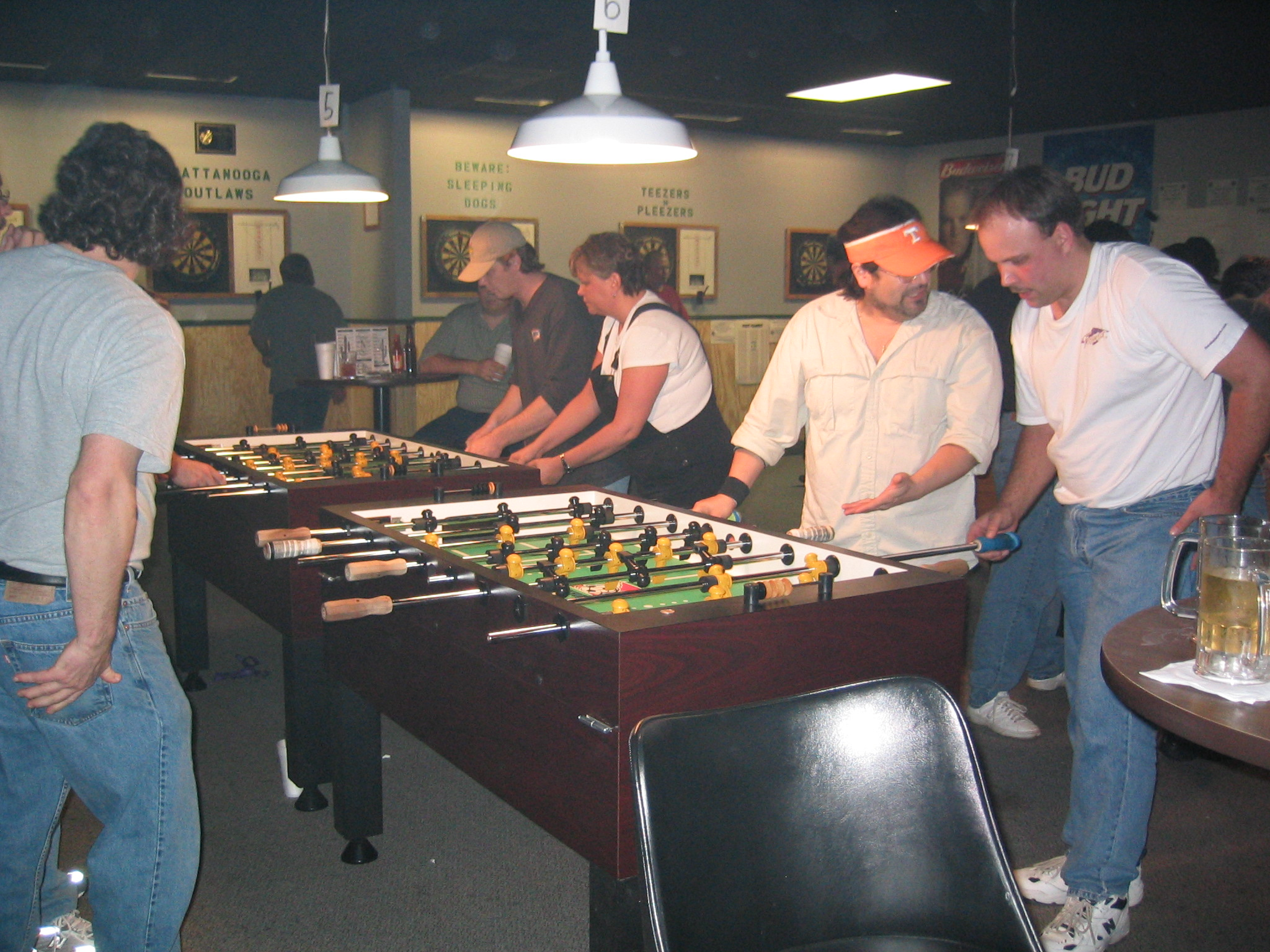 Pictured is action during open doubles competition at Tennessee State 2003.