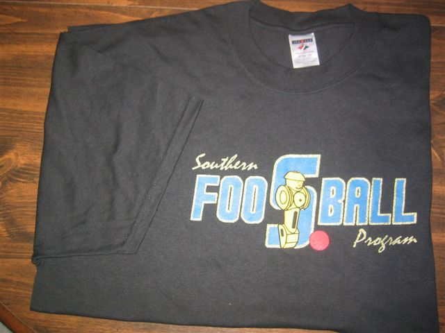 Southern Foosball Program TeeShirt-Black.